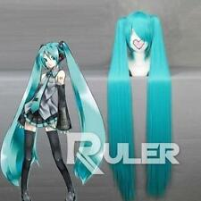 Hot New 100cm Long Vocaloid-hatsune miku Anime Cosplay wig + 2 Clip On Ponytail