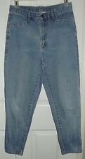 BRITTANIA VTG 90'S 100% COTTON DENIM RELAXED STYLE JEANS TAPERED ANKLES SZ 12