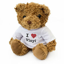 NEW - I LOVE VINYL - Teddy Bear - Cute And Cuddly - Gift Present Birthday Xmas
