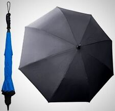 "BETTER BRELLA Wind Proof Reverse Open Upside Down 41.5"" Wide Umbrella Blue"