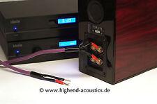 melodika Highend Lautsprecher Kabel bi-Wiring 2x3 m 24 Kt vergold Banana Stecker