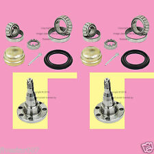 2 Rear Wheel Bearing Kits +Stub Axle Spindles_for VW_for Audi_Drum brake w/o ABS