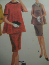 Vintage 60's McCall's 6403 MATERNITY TWO-PIECE DRESS Sewing Pattern Women UNCUT