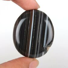 GREAT QUALITY BANDED AGATE FOR SALE  67.82 CT OVAL CABOCHON LOOSE GEMSTONE