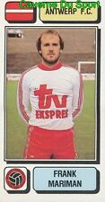 031 FRANK MARIMAN BELGIQUE ANTWERP.FC STICKER FOOTBALL 1983 PANINI
