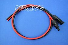 Pre-Crimped 4mm solar panel PV cable MC4 Connectors. Rated at 55Amps RED & BLACK