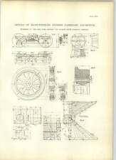 1893 Eight Wheeled Express Passenger Locomotive Hudson River Railroad Drawings