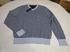 Men's Tommy Hilfiger long sleeve v neck sweater shirt 7844967 Light Blue 459 L