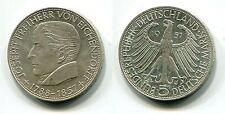 """5 DM BRD 1957 J """"Freiherr von Eichendorff"""""""