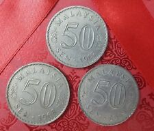 Malaysian Ringgit 50 Sen Collection 1967 1968 1969