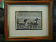 "DUCK PRINT ""NORTHERN REFLECTIONS-LOONS"" BY DON LI-LEGER INCLUDES FRAME"