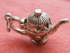 VINTAGE STERLING SILVER CHARM TEAPOT OPENS