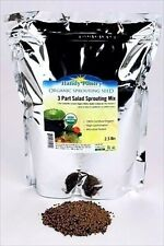 2.5 LB-3 PART SPROUT SALAD MIX-ALFALFA-BROCCOLI- RADISH SEEDS- SPROUTING SPROUTS