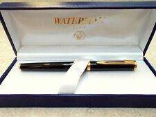 WATERMAN PREFACE BLACK  & GOLD  FOUNTAIN  PEN 18K GOLD  FINE  PT  NEW IN BOX