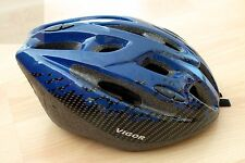 VIGOR WIND HELMETS HARDSHELL SIZE 54-57 CM BLUE BLACK BICYCLE BIKE HELMET AGE 5+