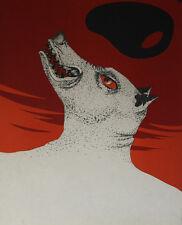 """""""Le loup garou"""" Lithographie de Félix LABISSE"""