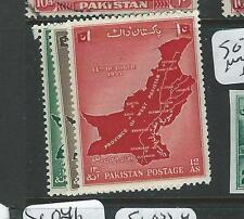 PAKISTAN (P2107B) MAP  SG 79-81  MOG