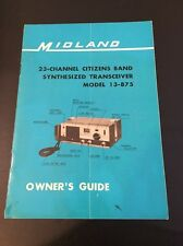 Vintage Midland 13-875 Base Transceiver CB Radio Manual Nice With Schematic 23