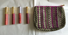 TARTE COSMETICS SEPHORA 5 PC LIP GLOSS CREME SET w MAKEUP POUCH BAG CRUELTY FREE