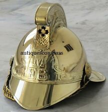 """Merryweather"" Brass Victorian Fireman Fire Fighter British M FB Chief  Helmet"