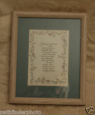 Serenity Prayer Christian Calligraphy Inspirational KATY FISCHER MAT FRAMED