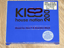 KISS  HOUSE NATION 2001 ALEX P & BRANDON BLOCK  2XCD CLUB PARTY RAVE MUSIC VGC