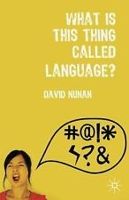 What is This Thing Called Language?-ExLibrary