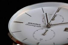 BAUHAUS chronograph watch WHITE,limited edition,brand new  + box! SALE!