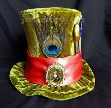 Disney Parks Alice In Wonderland Mad Hatter Mini Top Hat Johnny Depp Green Adult