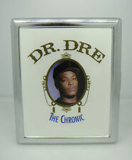 CIGARETTE CASE DR DRE THE CHRONIC ALBUM COVER RAP N.W.A. SILVER METAL WALLET