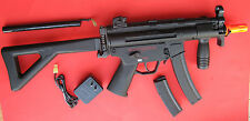 Galaxy MP5 PDW Metal Gearbbox Electric Airsoft Gun w/Folding PDW Stock & 2 Clips