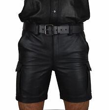 AW-547.Unisex Cargo Ledershorts,Leder Shorts,kurze lederhose,echt leder hose