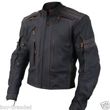 Cruiser Sports Motorbike Cowhide Leather Jacket Motorcycle Racing Jacket XS-4XL