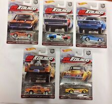 Hot Wheels 2017 HW REDLINERS SET OF 5 CARS CAR CULTURE REAL RIDERS NEW