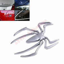 1Pcs Metal 3D Spider Badge Sticker Car SUV Exterior Interior Decal Emblem Silver