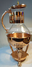 Corning Coffee Carafe Glass Pot Vintage Shiny Copper 3 Pieces