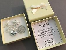 LUCKY SIXPENCE CHARM, 60th, BIRTHDAY GIFT, PERSONALISED, 1956 coin