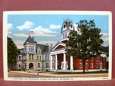 Postcard VT Montpelier Post Office & Washington County Court House