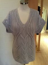Olsen Sweater Size 10 BNWT Beige Cable Knit RRP £79 Now £35