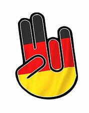 The SHOCKER Hand With German Germany Country Flag vinyl car sticker decal