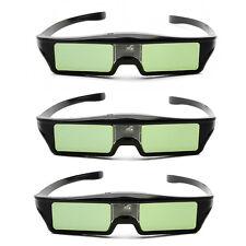 3X Pcs Recharge 96-144Hz Ultra Slim 3D DLP-Link Active Glasses for BenQ W1070