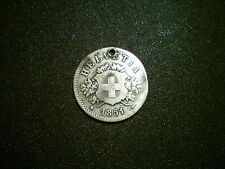 1851BB SWITZERLAND 20 RAPPEN COIN. RARE