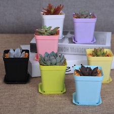 7pcs Mini Plastic Plant Flower Pot Planter Home Office Decoration Nursery Garden