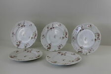 ⚜ 5 x Haviland & Co France ⚜ H&C L ⚜ Limoges ⚜ Speiseteller ⚜ Teller ⚜ Rosen ⚜