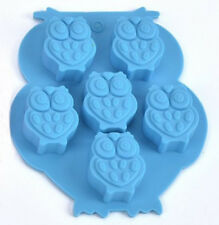 Owls 6 Cavity Purple Silicone Mold for Fondant, Gum Paste, Chocolate, Crafts