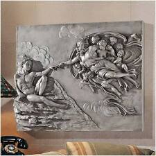 Creation of Adam by Michelangelo Wall Sculpture Frieze Sistine Chapel Rome