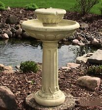 Large Outdoor Round Garden Bird Bath Water Fountain Feature Solar Powered F2
