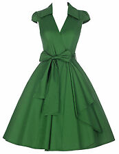 CHEAP Vintage 40s 50s 60s Pinup Swing Full Circle Housewife Cocktail Party Dress