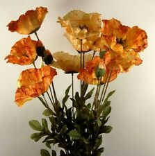 Artificial Flower - Amber Poppy spray