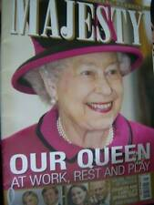 Majesty Magazine V34 #5 Queen At Work Rest Play, William & Kate, Princess Lilian